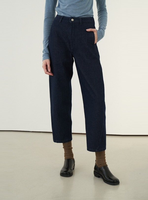 Round fit pants (navy)
