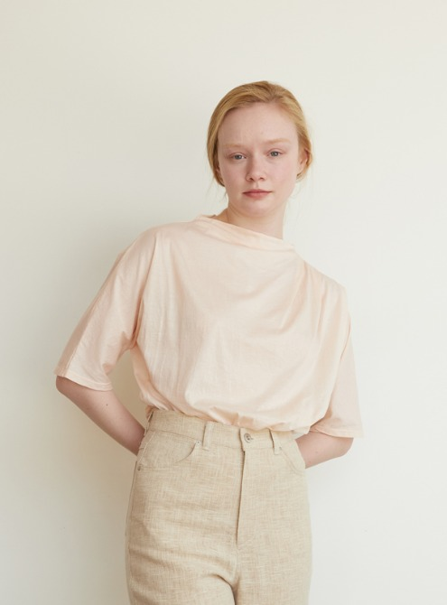 Silket jersey top (light pink)
