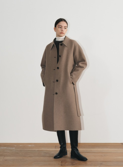 Handmade wool coat(sepia)